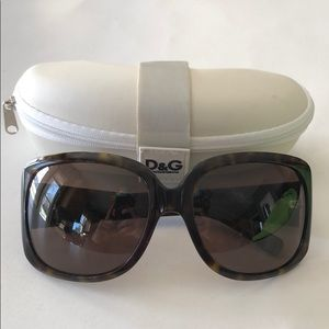 Dolce & Gabbana women's brown tortoise sunglasses